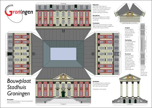 Bouwplaat stadhuis groningen - Ingang van een huis ...